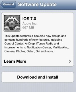 install and download ios 7