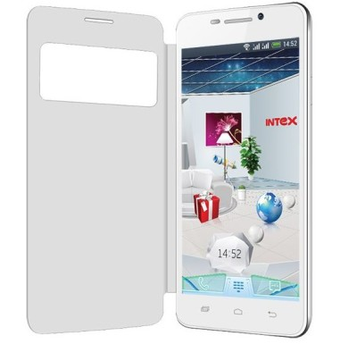 intex aqua i7 flip cover