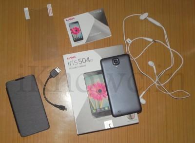 LAVA Iris 504q box pack