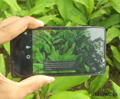 LAVA Iris 504q camera