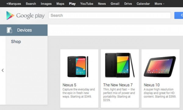 nexus 5 price leaks via play store