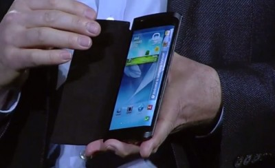 Samsung curved display flexible smartphone
