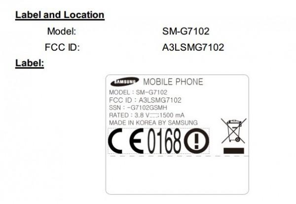 Samsung SM G7102 leak