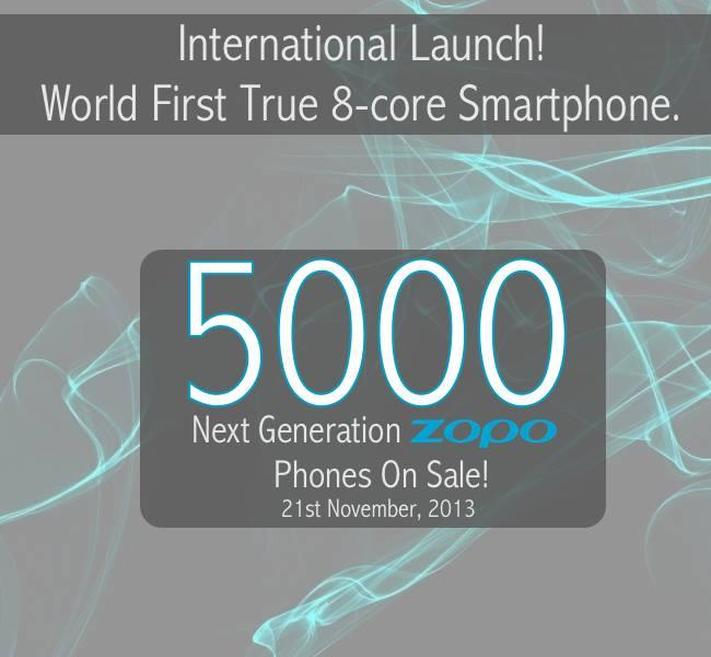 zopo zp1000 launch date true octa core