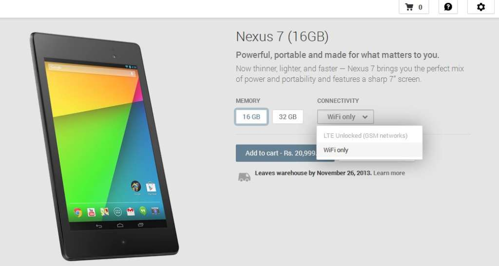 Google Nexus 7 Review & price in India