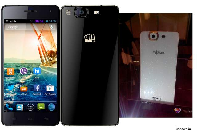 micromax a350 canvas knight and myphone infinity
