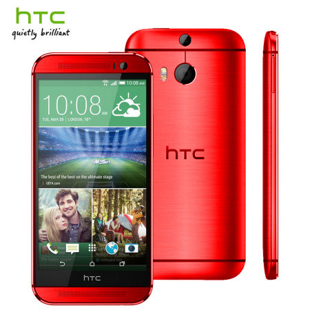 Red HTC One M8 UK