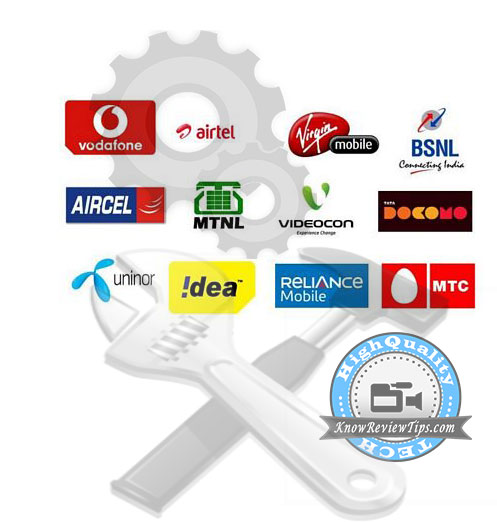 BSNL, Airtel, Reliance, Vodafone, Idea, Aircel, Virgin, Loop Mobile