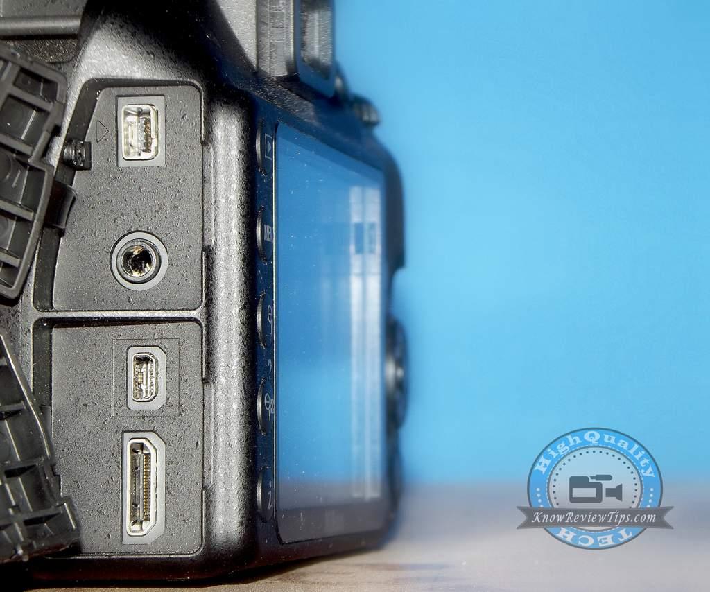 nikon d3300 ports slots mic hdmi terminals