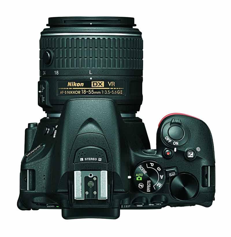 Nikon d5500 top