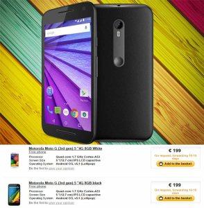 Motorola Moto G 3rd Gen Specifications leaked : features 2GB RAM