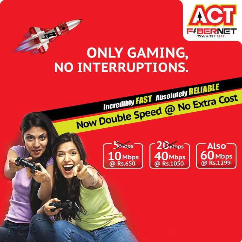 ACT Fibernet plans 2015 Hyderabad