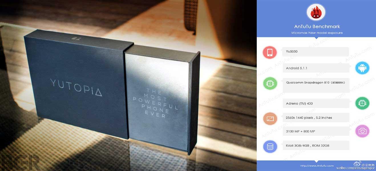 Micromax YU Yutopia Yu5050