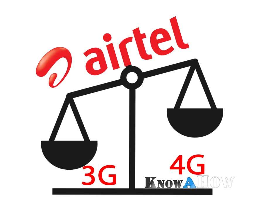 Airtel Internet data balance usage validity check