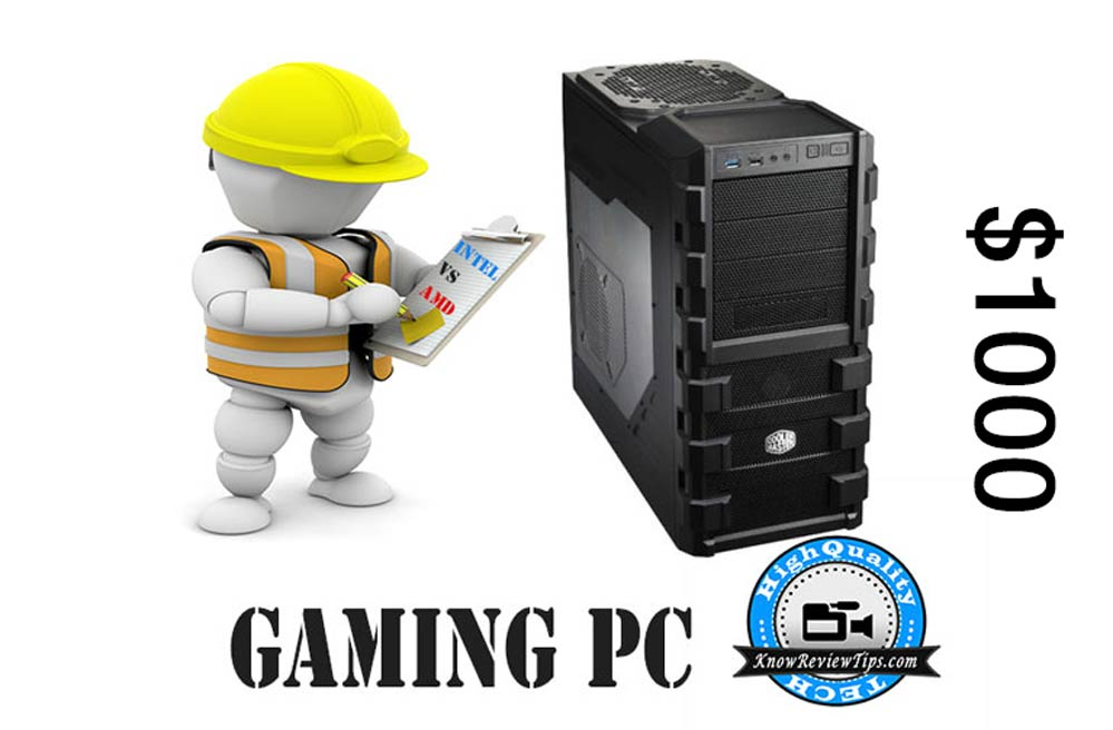 Build Best Gaming PC under 60000 RS USD $1000 Intel AMD configurations