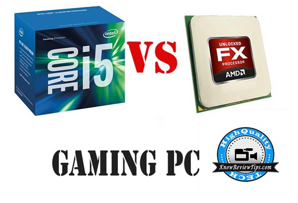 Build Gaming Intel core i5 6th gen 6400 6500 VS AMD fx-8350