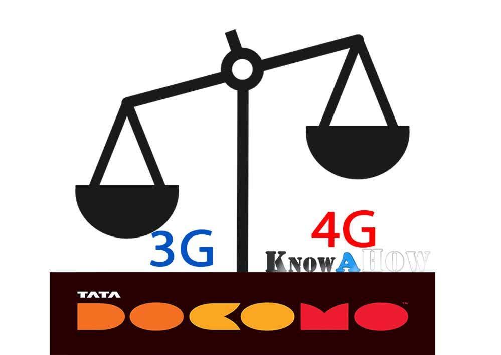 Check Tata docomo internet data balance