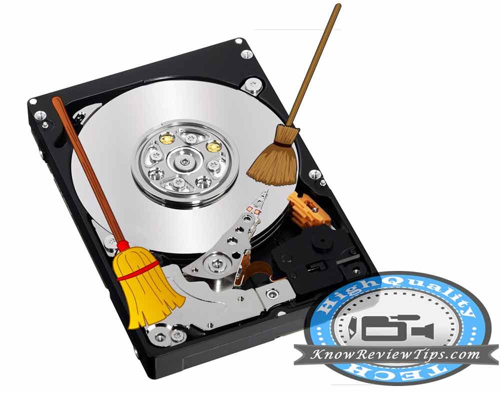 Clean your hard disk drive to run windows faster