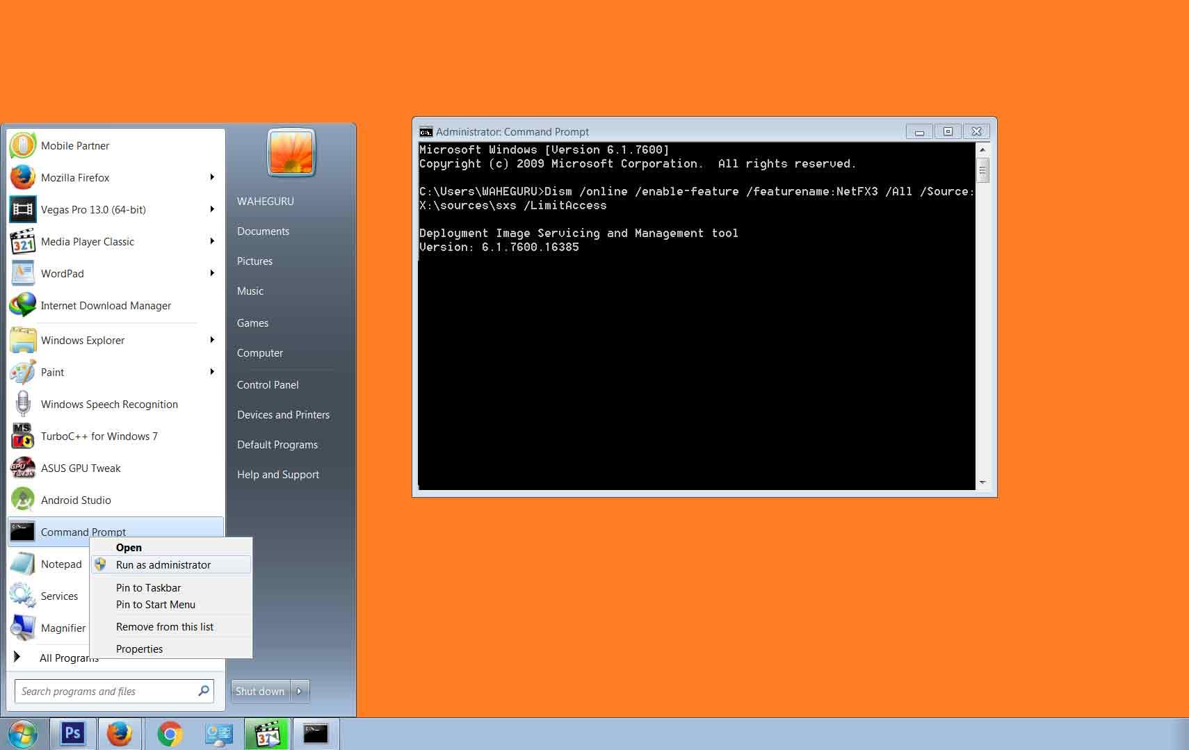 install net framework 3.5 windows 10 offline
