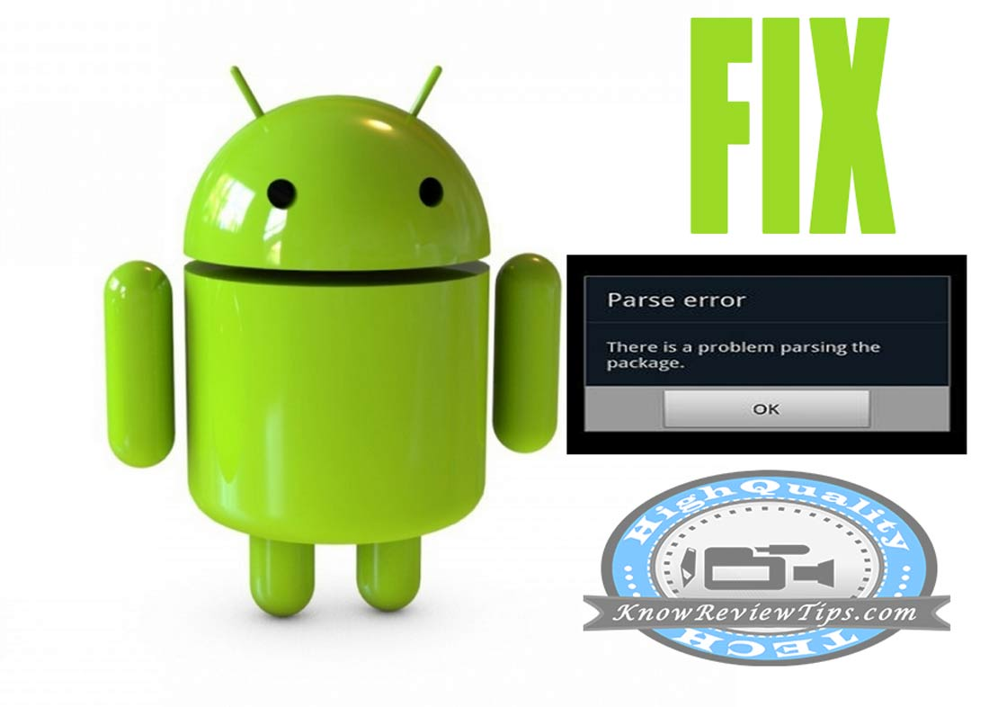 Solve Error Problem Parsing the package in Android