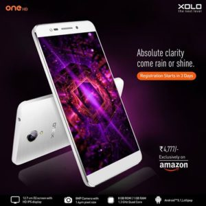 Xolo One HD featuring 8MP camera launched with RS 4777 price tag