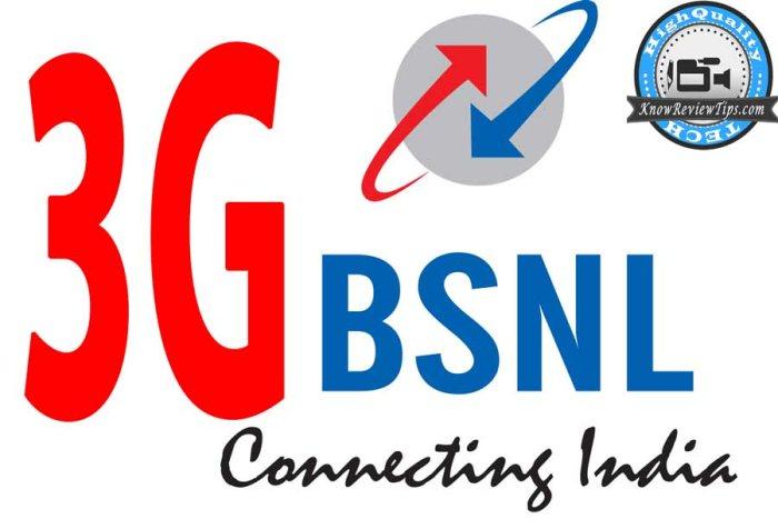 bsnl 3G data plans