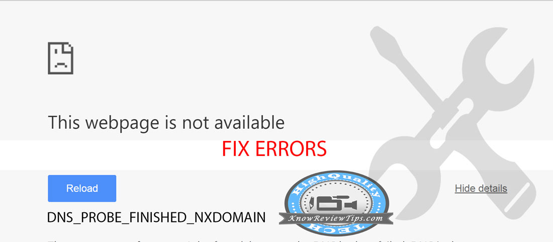 error DNS_PROBE_FINISHED_NXDOMAIN Google Chrome