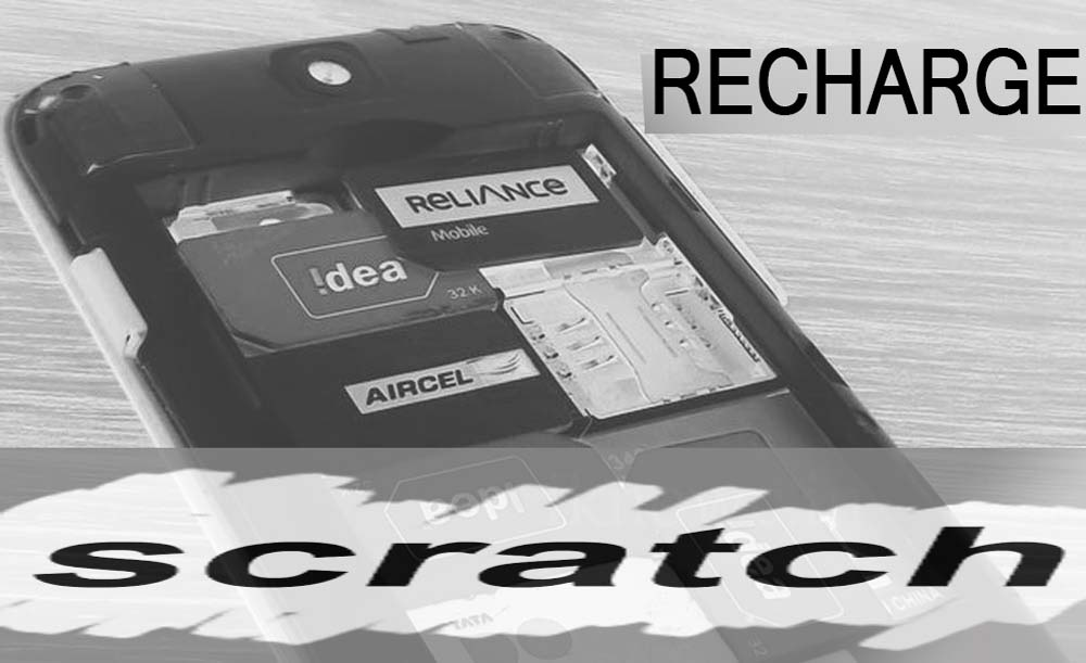 Recharge mobile number with scratch card top up voucher
