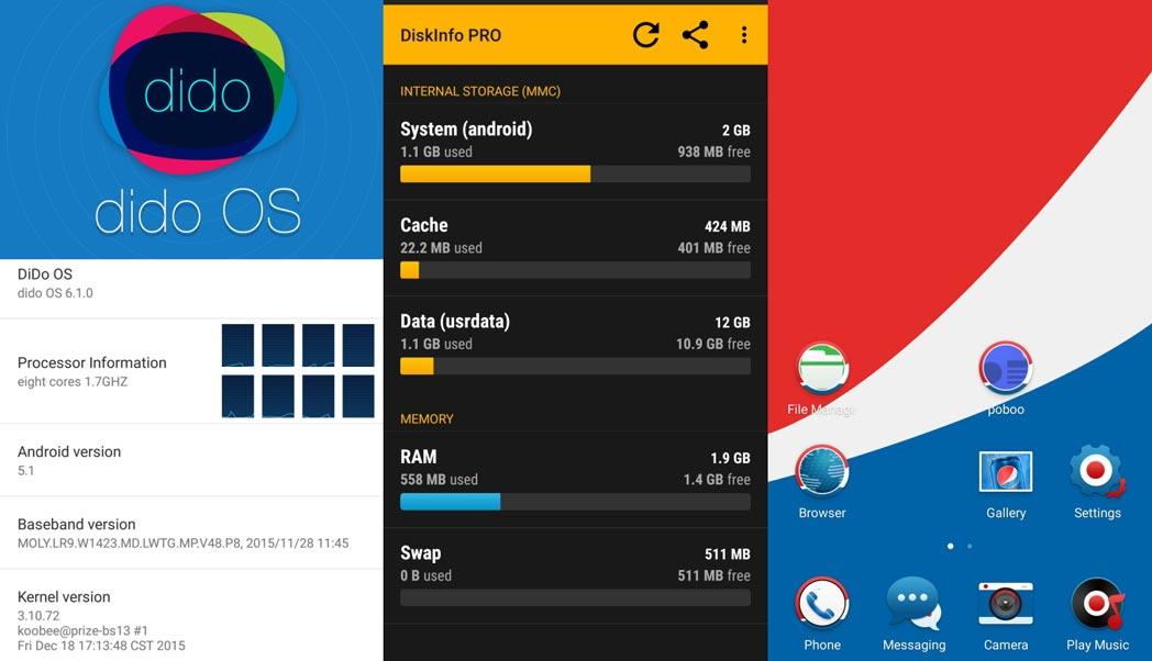 Pepsi P1s OS UI