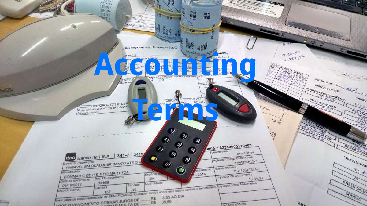 Basic accounting terms finance terminology