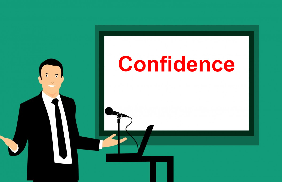 self confidence and influence the audience