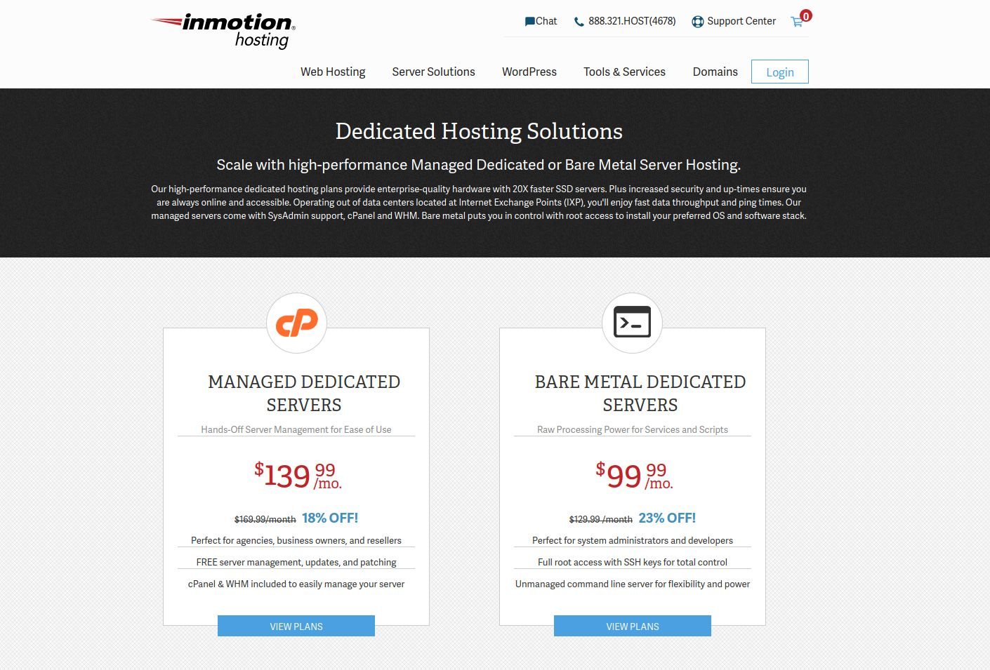 Dedicated Hosting Solutions InMotion Hosting