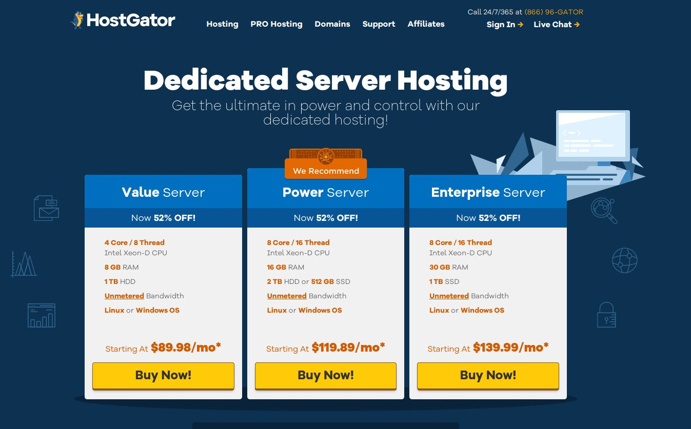 Dedicated Server Hosting - Windows Linux Plans HostGator