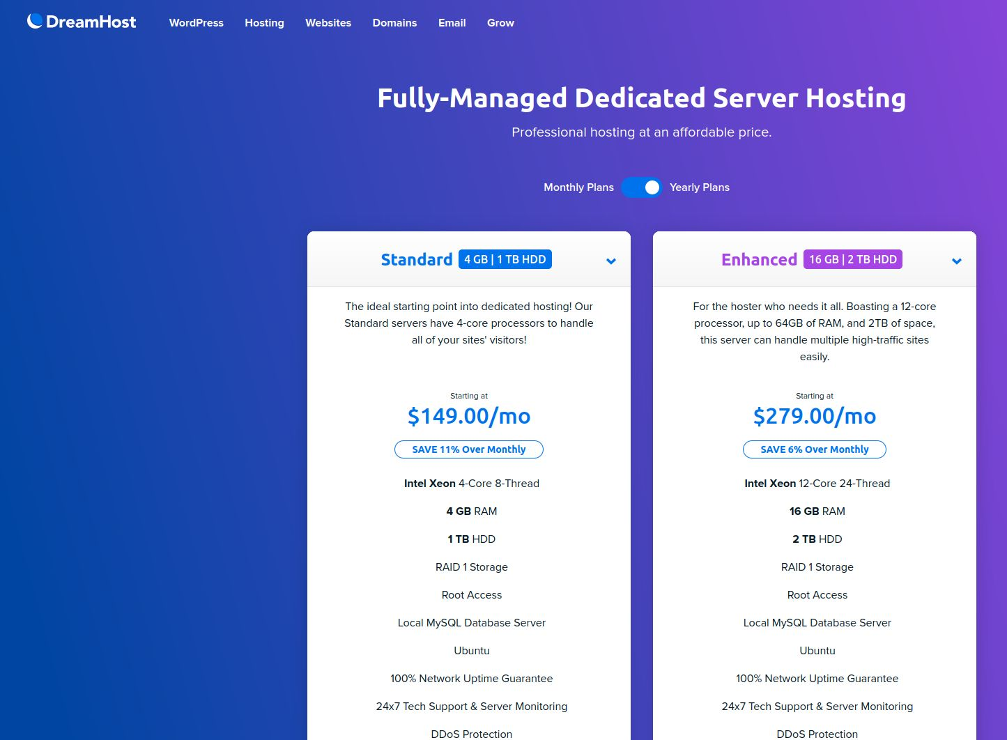 dreamhost Fully Managed Dedicated Server Hosting