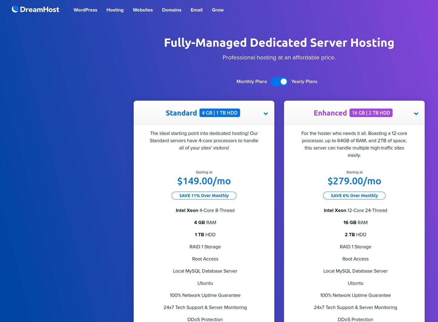dreamhost Fully Managed Dedicated Server Hosting